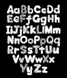 Mão-desenho da garatuja do alfabeto Fotografia de Stock