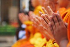 mão do ¹ do à da monge Fotos de Stock