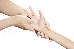 Mão do Acupressure Fotografia de Stock Royalty Free