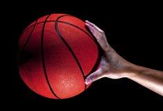 Mão do basquetebol e do homem foto de stock royalty free