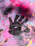 Mão do bebê com pintura Foto de Stock Royalty Free