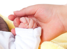 Mão do bebê. Infante Foto de Stock Royalty Free
