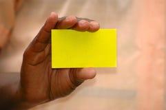 Mão do cartão Imagens de Stock Royalty Free