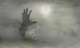 Mão do cemitério ilustração do vetor