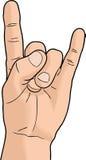 Mão do chifre do diabo Ilustração Stock