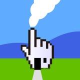 Mão do cursor do Web como bens imobiliários ilustração do vetor