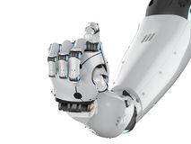 Mão do Cyborg isolada ilustração do vetor