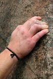 Mão do detalhe do montanhista Fotografia de Stock Royalty Free