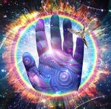 Mão do deus ilustração royalty free