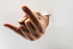 Mão do diabo foto de stock royalty free