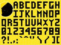 Mão do Doodle - alfabeto feito ilustração do vetor