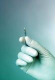 Mão do doutor com implante dental Imagem de Stock Royalty Free