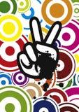Mão do Hippie, vetor Imagens de Stock Royalty Free