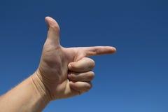 A mão do homem foto de stock royalty free