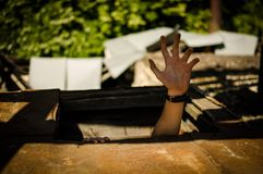 Mão do homem fotografia de stock