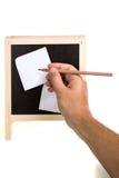 Mão do homem com lápis Fotografia de Stock
