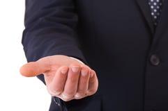 A mão do homem de negócios vazio. imagens de stock