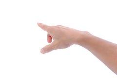 Mão do homem isolada Imagens de Stock
