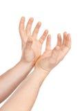 A mão do homem isolada imagens de stock royalty free