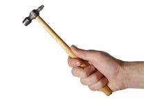Mão do homem, martelo Imagens de Stock