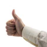 Mostras da mão do homem como o gesto imagem de stock