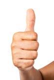 A mão do homem mostra os polegares acima Imagem de Stock Royalty Free