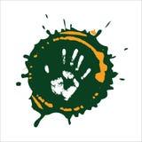 Mão do Imprint na pintura. ilustração stock