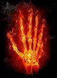 Mão do incêndio ilustração do vetor
