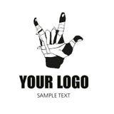 Mão do logotipo Foto de Stock Royalty Free