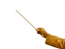Mão do maestro do ouro Fotos de Stock