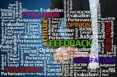 Mão do negócio com conceito do feedback e da avaliação Imagem de Stock Royalty Free