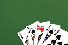 Mão do póquer foto de stock