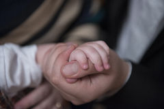 Mão do pai Fotos de Stock
