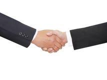 Mão do personshake de dois negócios Fotografia de Stock Royalty Free