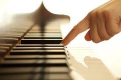 Mão do pianista Foto de Stock
