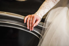 Mão do recém-casado Fotos de Stock Royalty Free