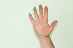A mão do símbolo masculino Foto de Stock Royalty Free