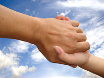Mão do salvamento, mão amiga Imagem de Stock