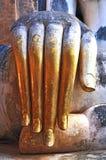 Mão do status de buddha Fotografia de Stock