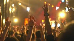 Mão do telefone do concerto da multidão vídeos de arquivo