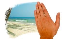Mão do verão Fotografia de Stock Royalty Free