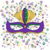 Mão do vetor tirada rotulando a ilustração eps10 para o carnaval do carnaval ilustração do vetor