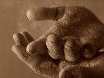 Mão dois Fotografia de Stock