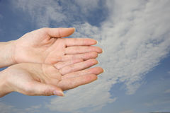 Mão dois Fotos de Stock