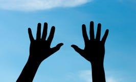 Mão dois Foto de Stock