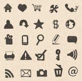 Mão dos ícones da Web tirada Fotografia de Stock