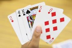 Mão dos cartões Foto de Stock