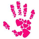 Mão dos corações Fotografia de Stock Royalty Free