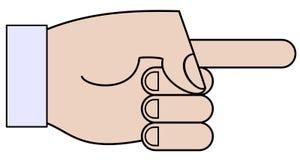 Mão dos desenhos animados Imagens de Stock