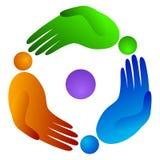Mão dos povos da rotação ilustração royalty free